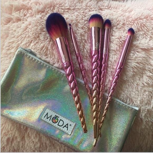 Moda mythical 6 pcs brushes unicorn set